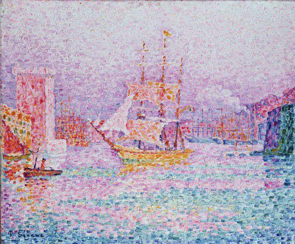 《马赛港》,1907,布上油画风景,46×55cm,俄罗斯圣彼得堡艾米塔吉博物
